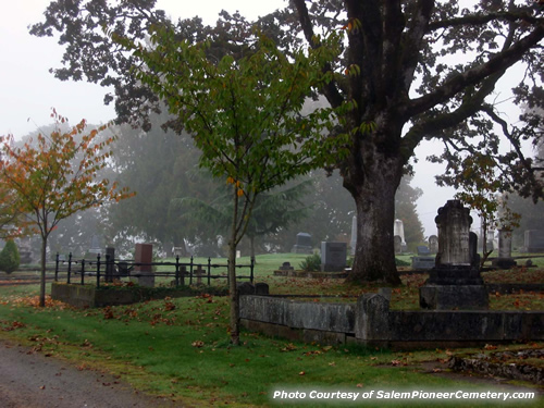 Fall Time in the Salem Pioneer Cemetery